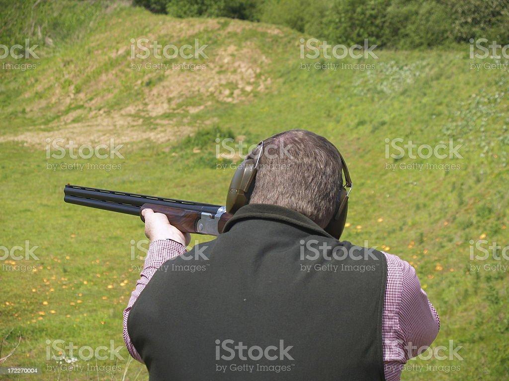 Clay Shooting 2 royalty-free stock photo