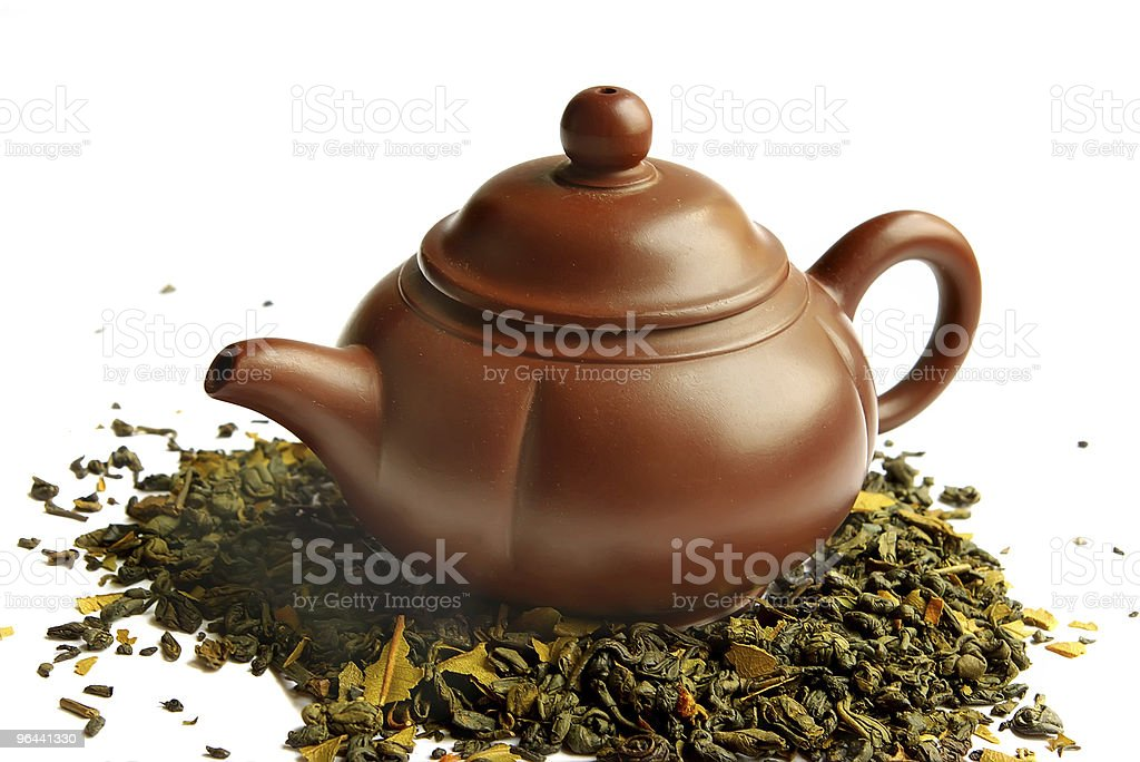 Clay teapot for the Chinese tea royalty-free stock photo