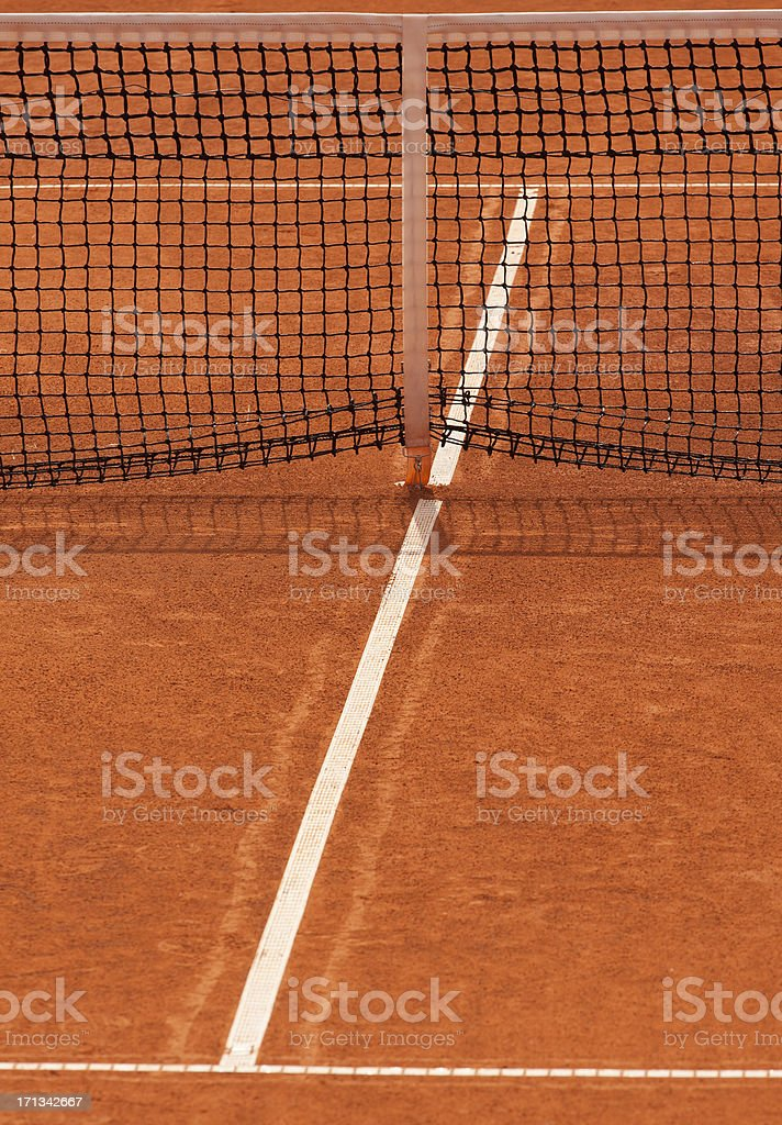 Clay tennis court royalty-free stock photo