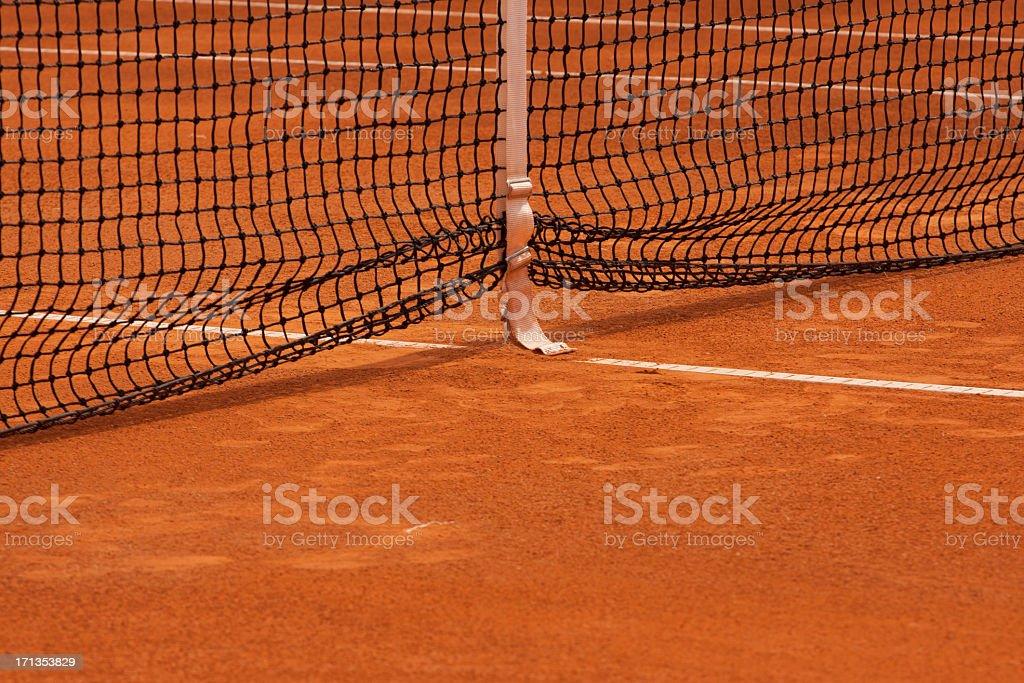 Clay tennis court stock photo
