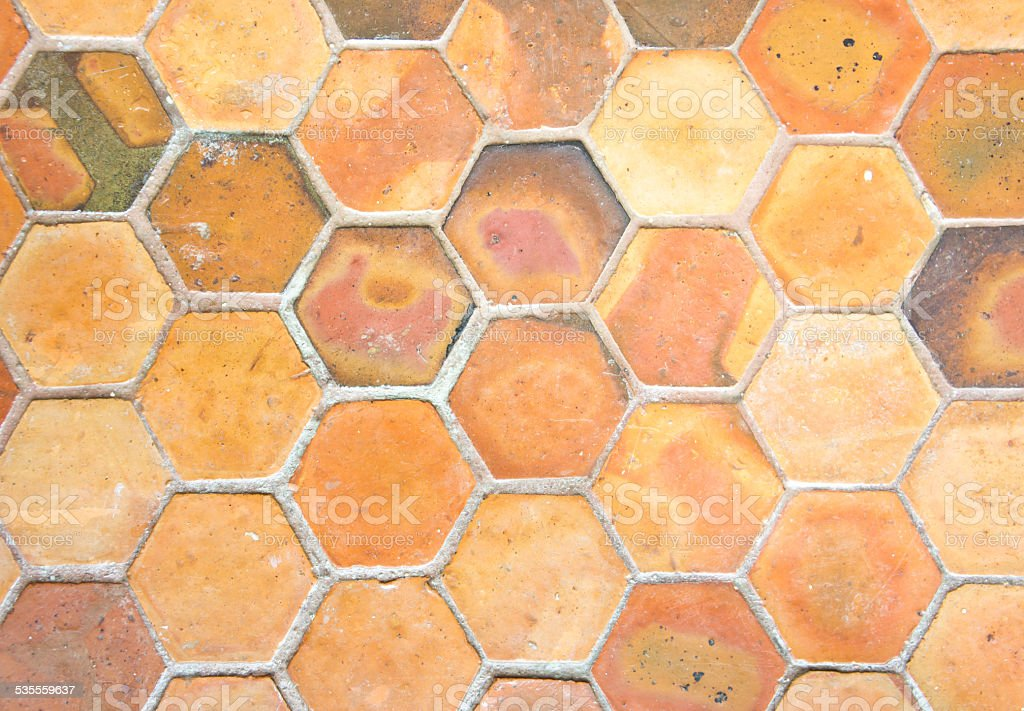 Clay Tile Background stock photo