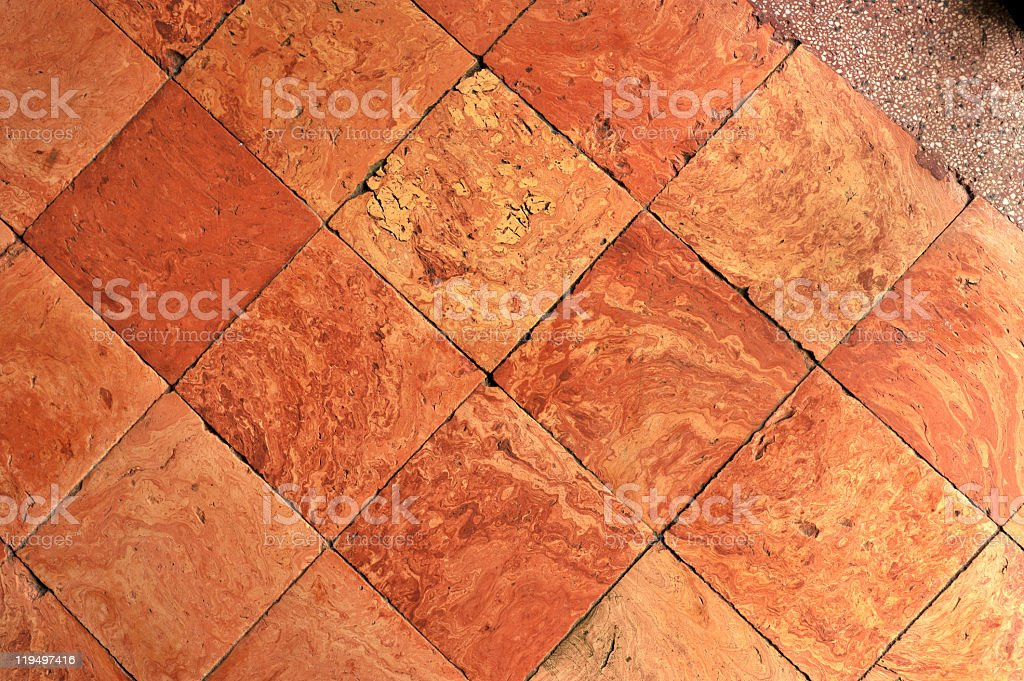 Clay tiles geometry stock photo