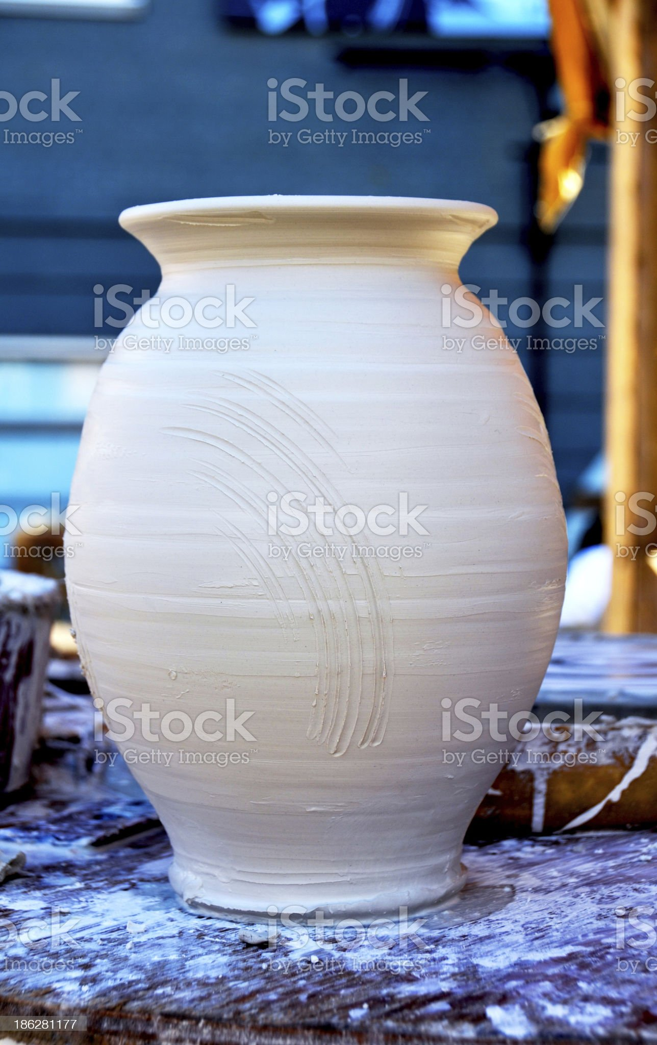 Clay vase royalty-free stock photo