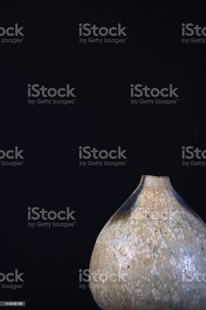 Clay Vase with Negative Space royalty-free stock photo