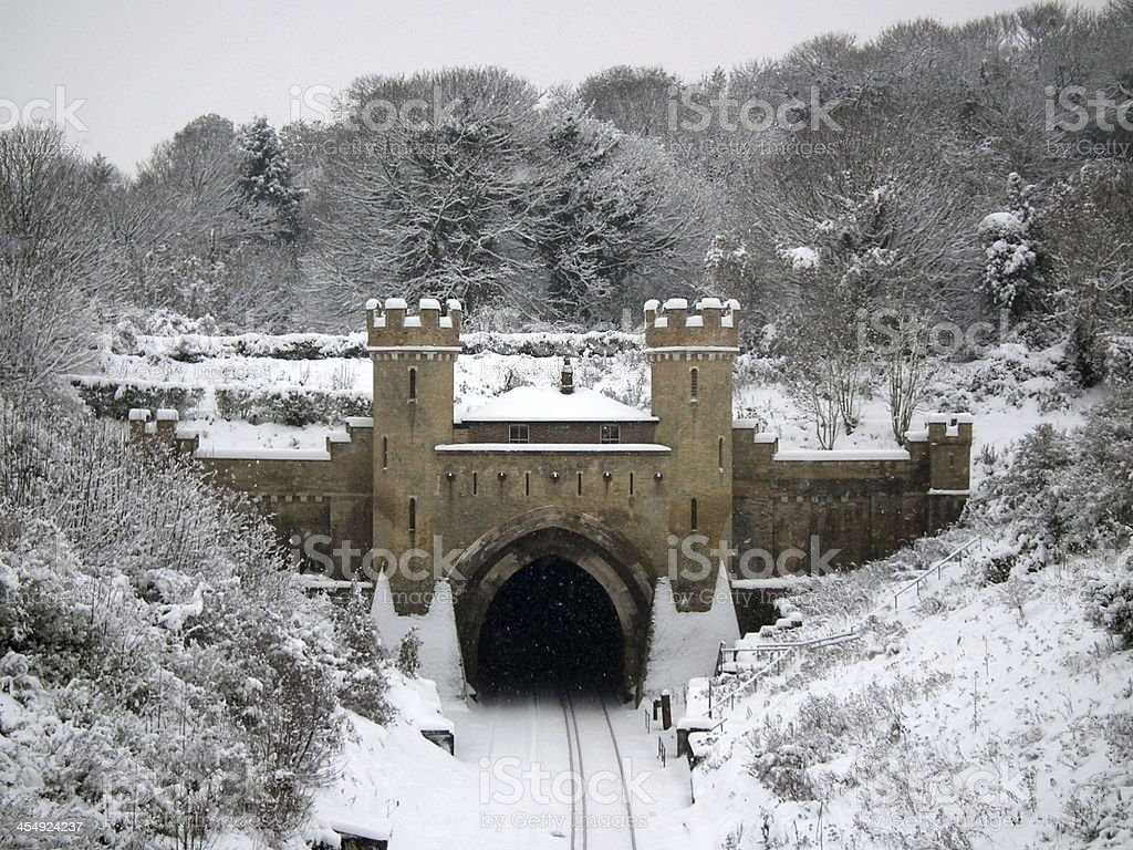 Clayton Railway Tunnel. stock photo