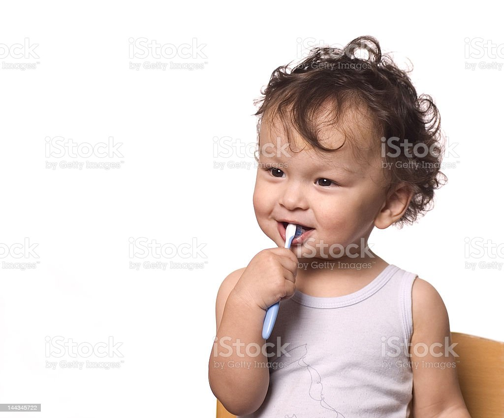 Clean a teeth. royalty-free stock photo
