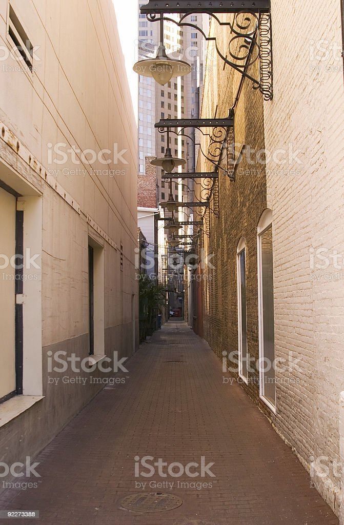 Clean Alley stock photo