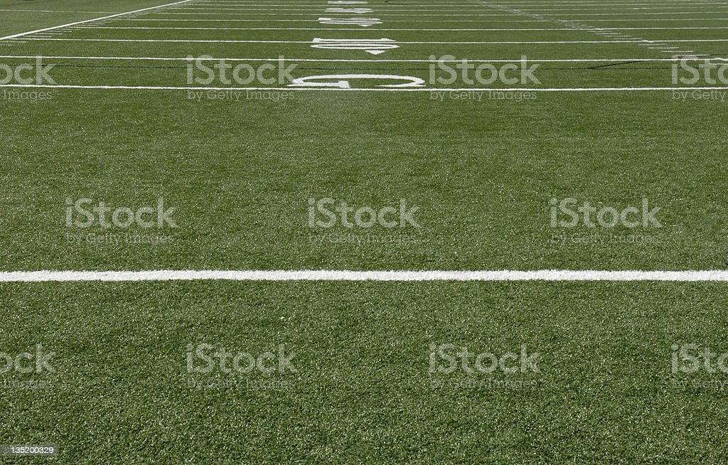 Clean and freshly cut football field royalty-free stock photo