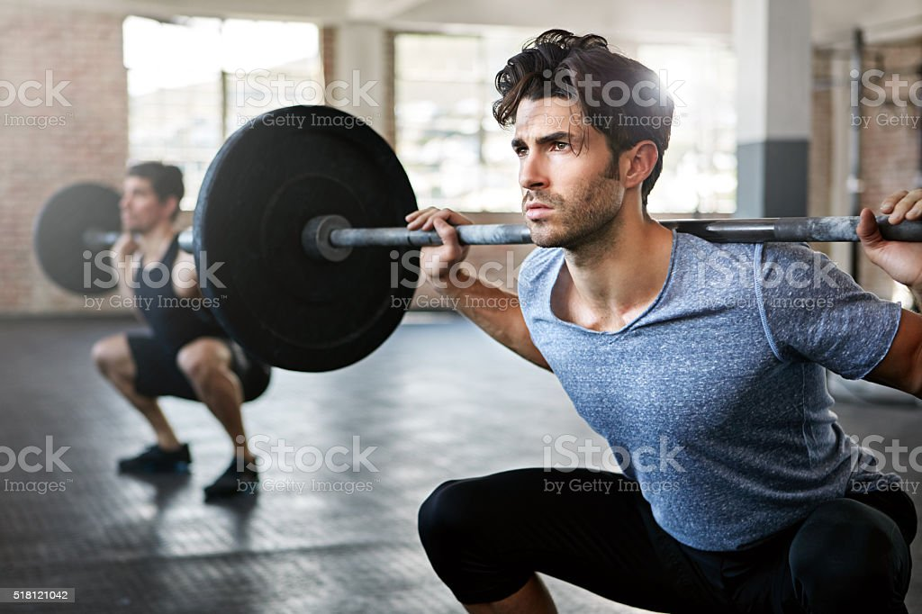 Clean and jerk! stock photo