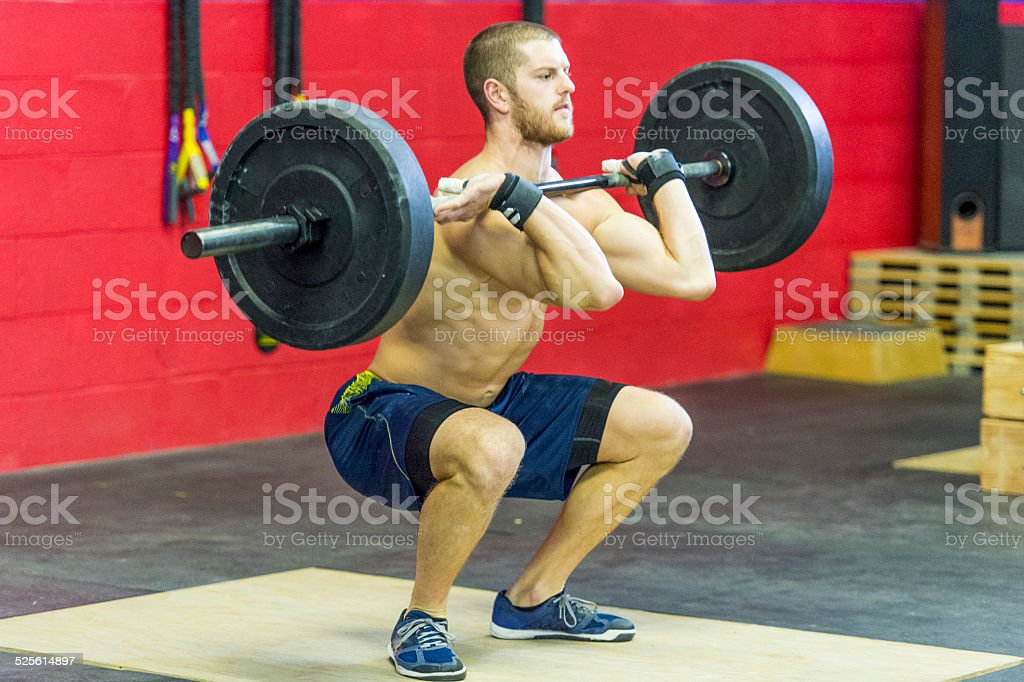 clean and jerk stock photo