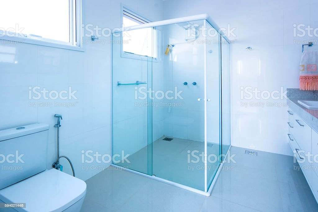 Clean bathroom stock photo