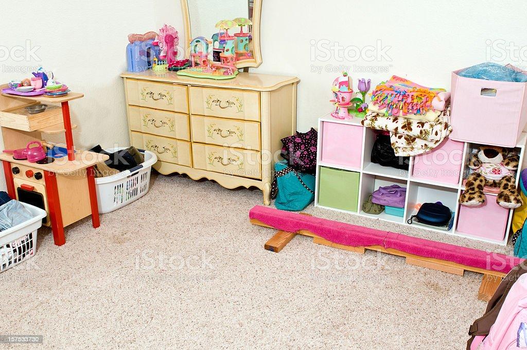 Clean bedroom stock photo