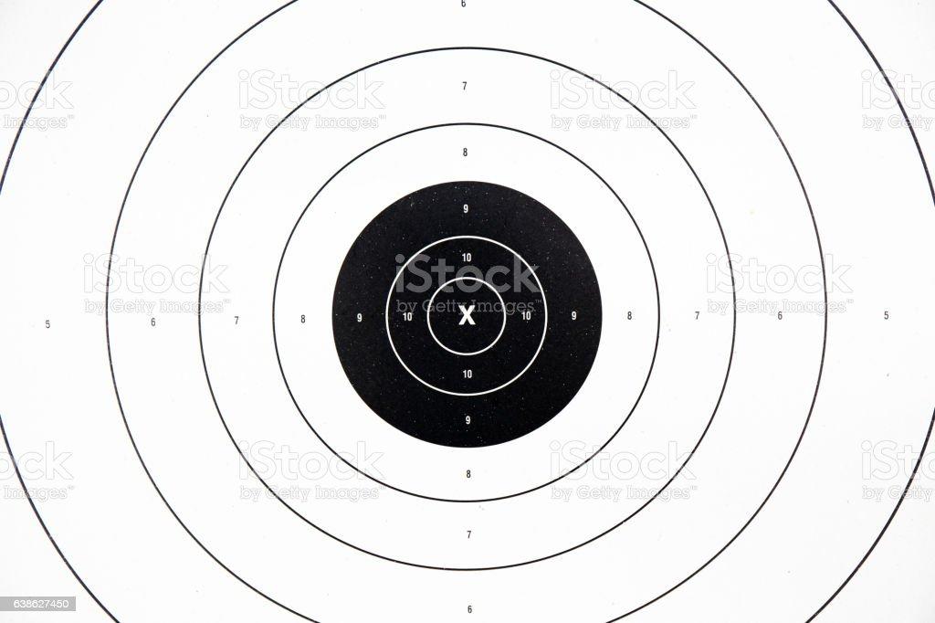 clean black paper bullseye target stock photo