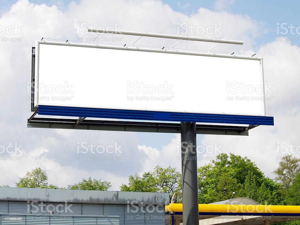Clean Blank Advertisement billboard ready for your ad  royalty-free stock photo