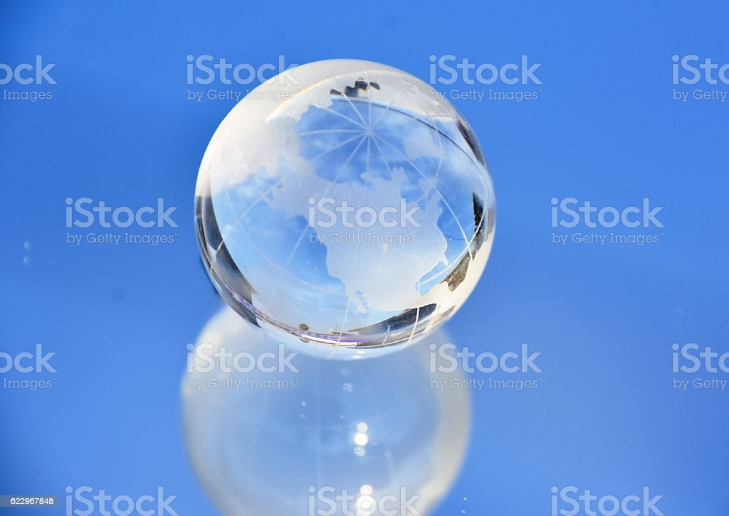 Clean blue sky stock photo