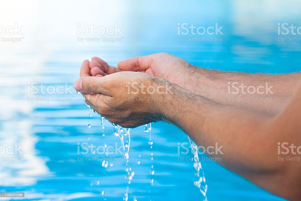 clean blue water royalty-free stock photo