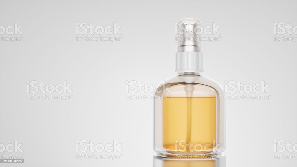 Clean bottle mockup. 3d render and illustration.charm, gift stock photo