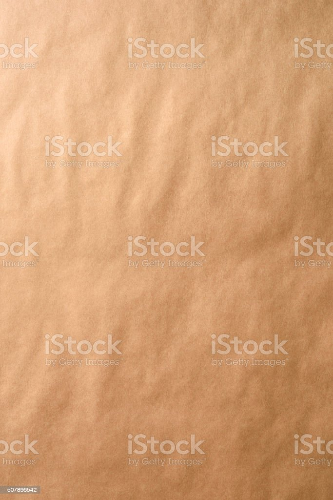 Clean brown wrapping paper background stock photo