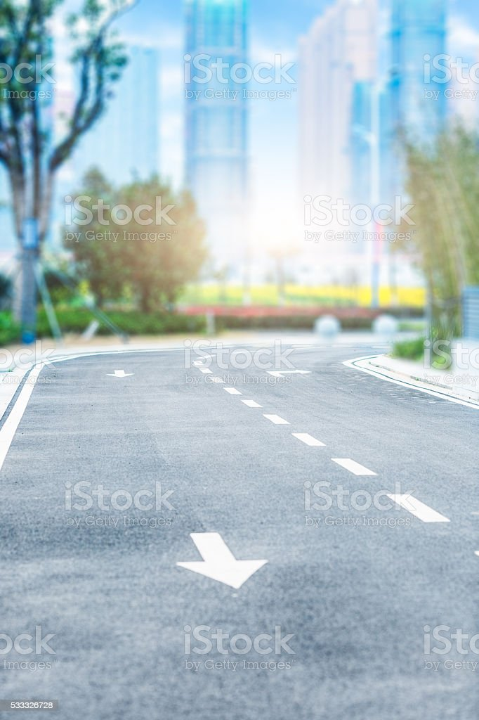 clean city road stock photo