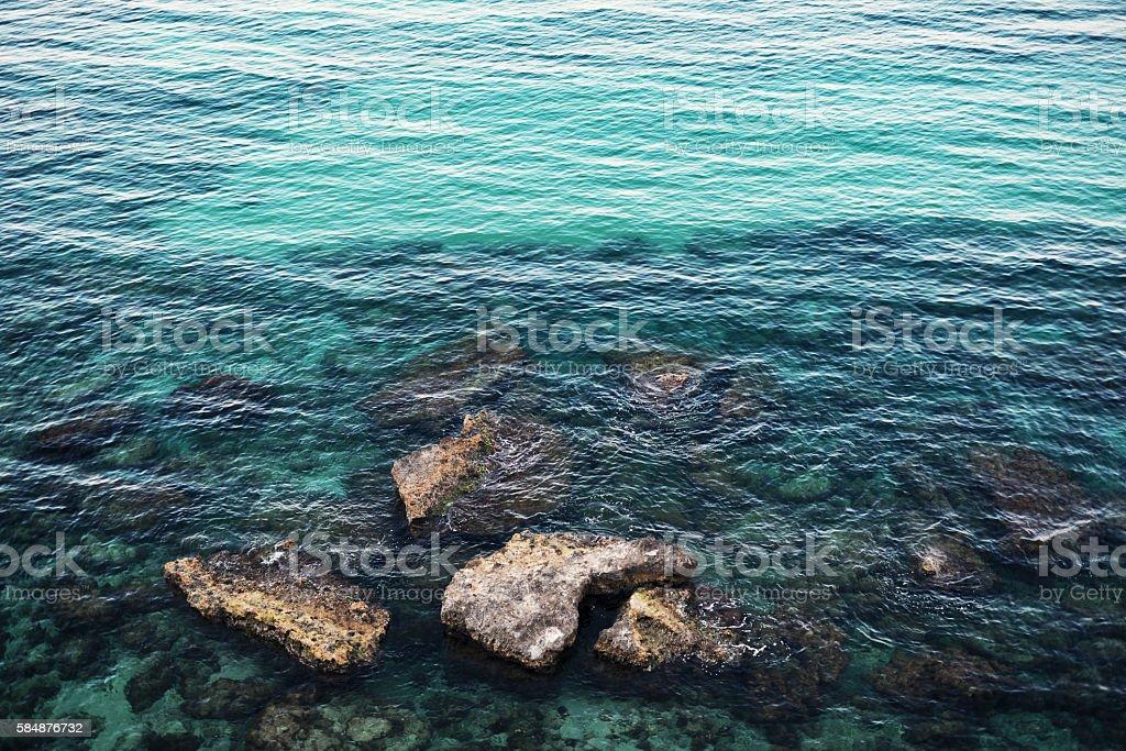 Clean, clear, fresh sea water... stock photo