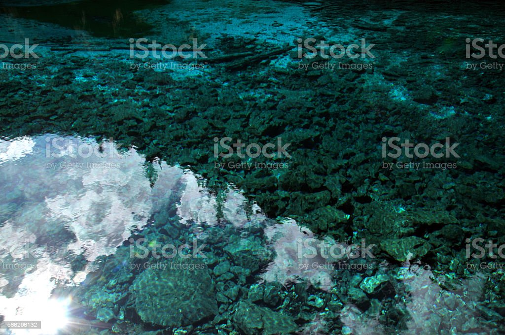 Clean Clear Lake Water stock photo