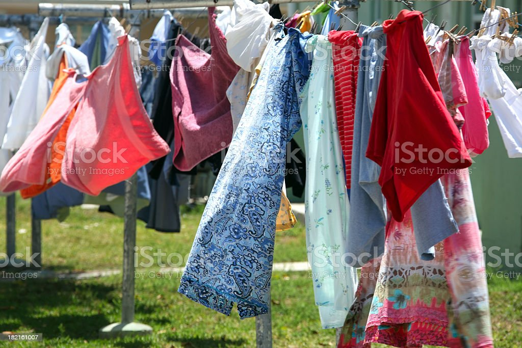 clean cloths laundry royalty-free stock photo