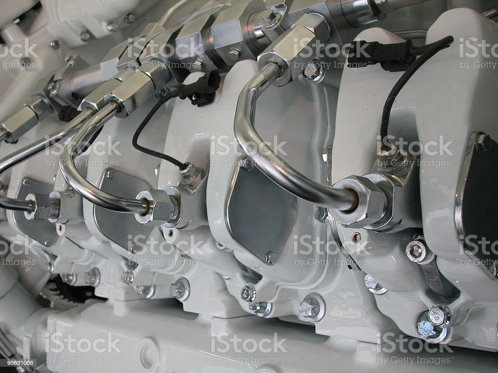 Clean Diesel machine Engine royalty-free stock photo