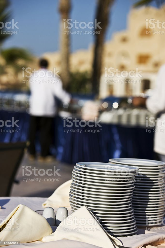 Clean dishes royalty-free stock photo