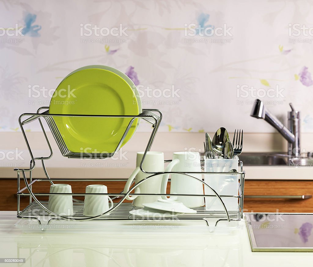 clean dishes stock photo