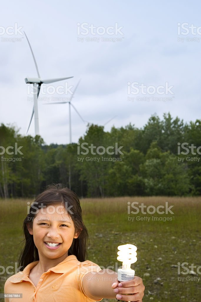 Clean Electricity stock photo