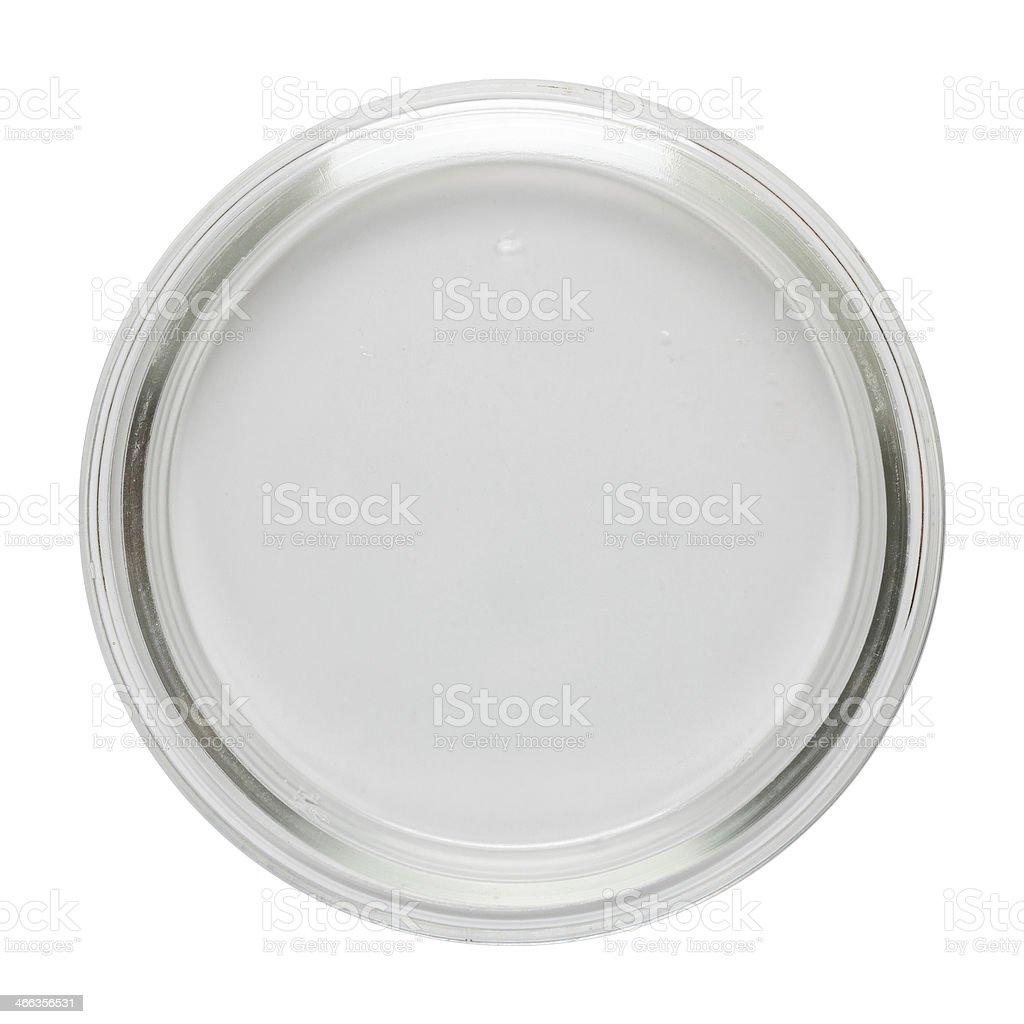 Clean empty perti dish stock photo