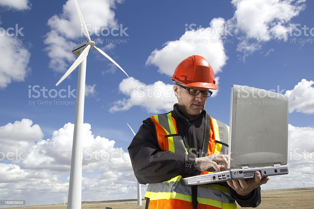 Clean Energy and Engineer royalty-free stock photo