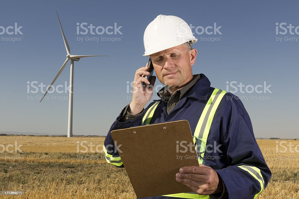 Clean Energy Call royalty-free stock photo