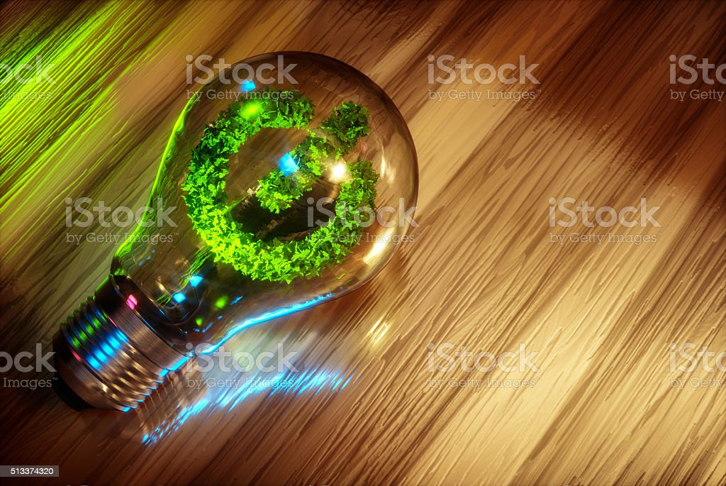 Clean energy concept stock photo