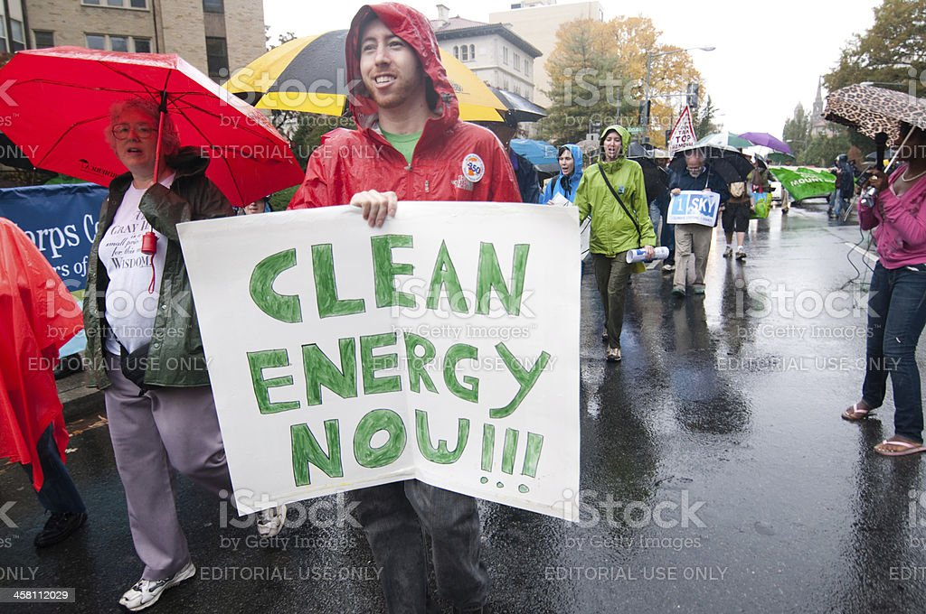 Clean Energy Now stock photo