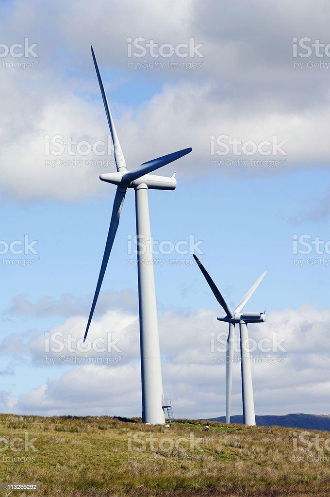 Clean energy, wind farm royalty-free stock photo