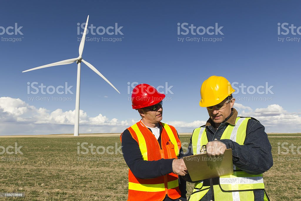 Clean Energy Workers royalty-free stock photo