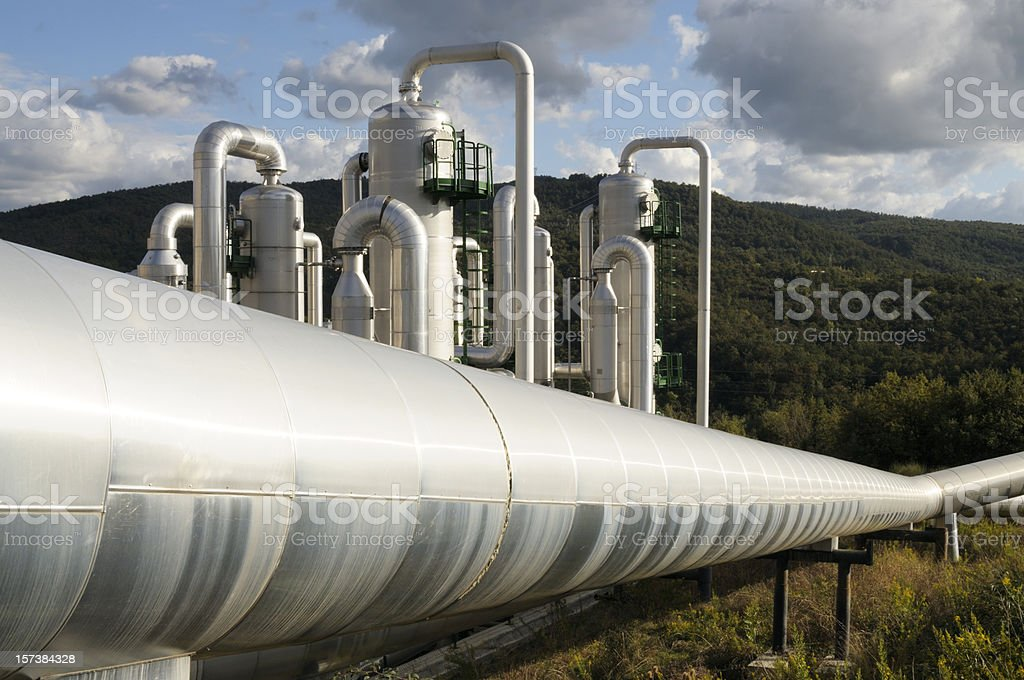 Clean Energy,Geothermal Power Station stock photo