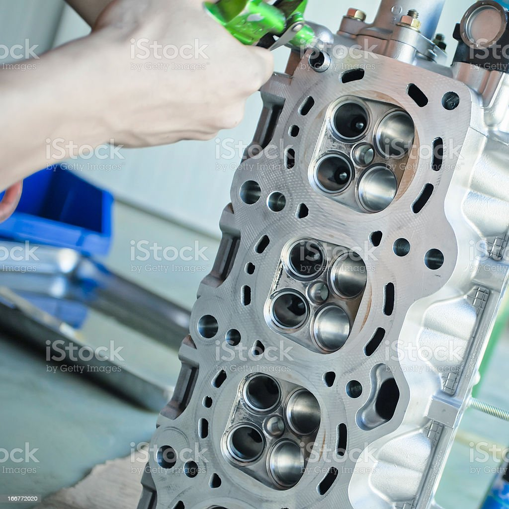 clean engine cylinder block royalty-free stock photo