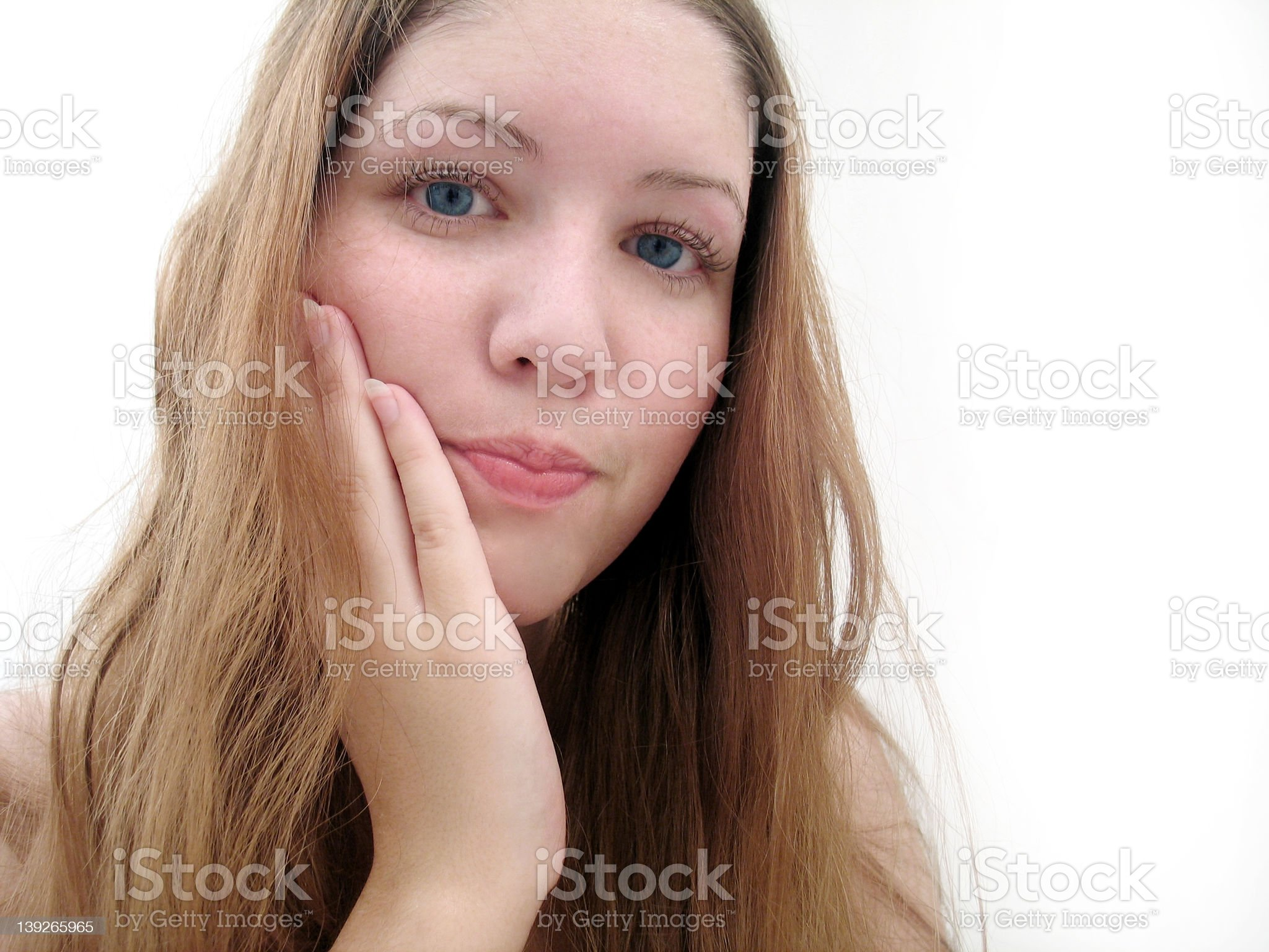 Clean face royalty-free stock photo