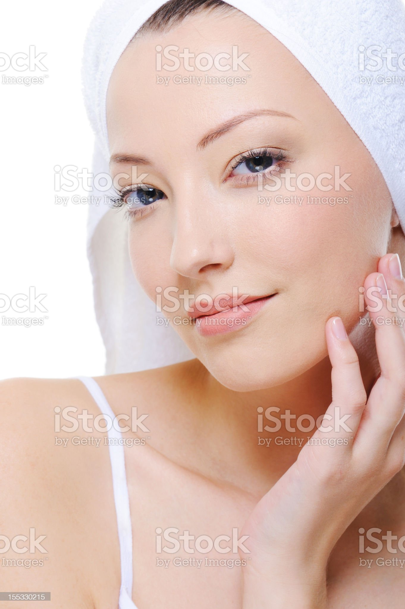 clean female face royalty-free stock photo