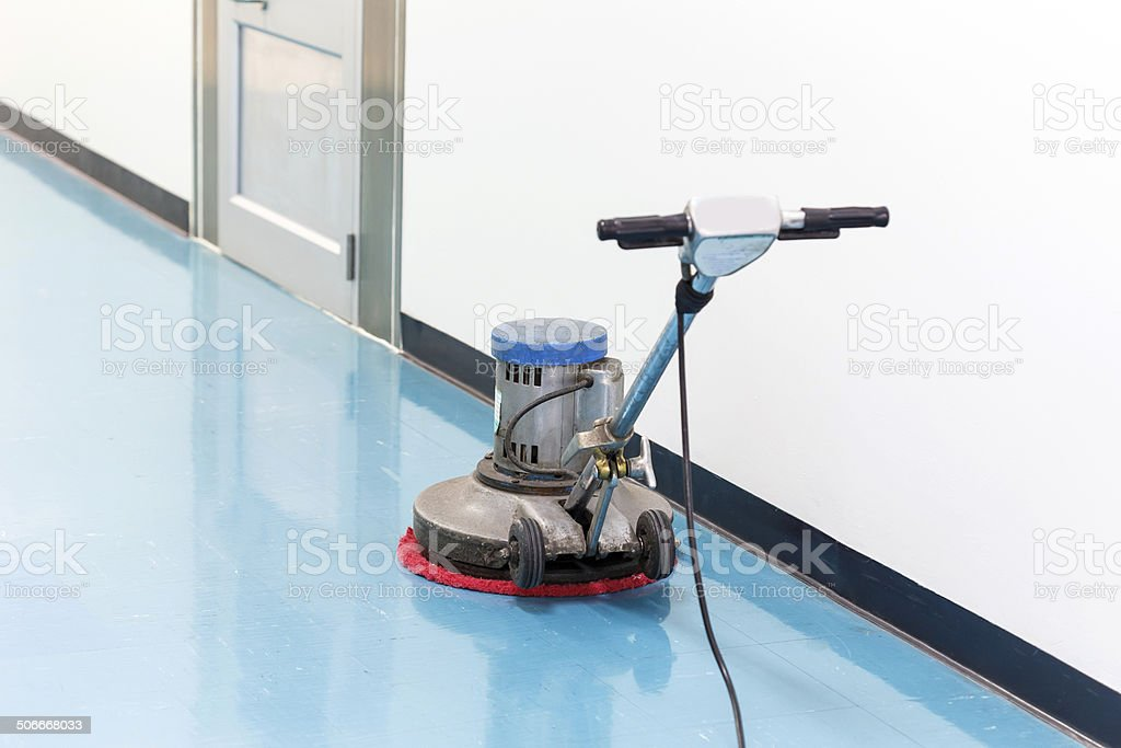 clean floor machine stock photo