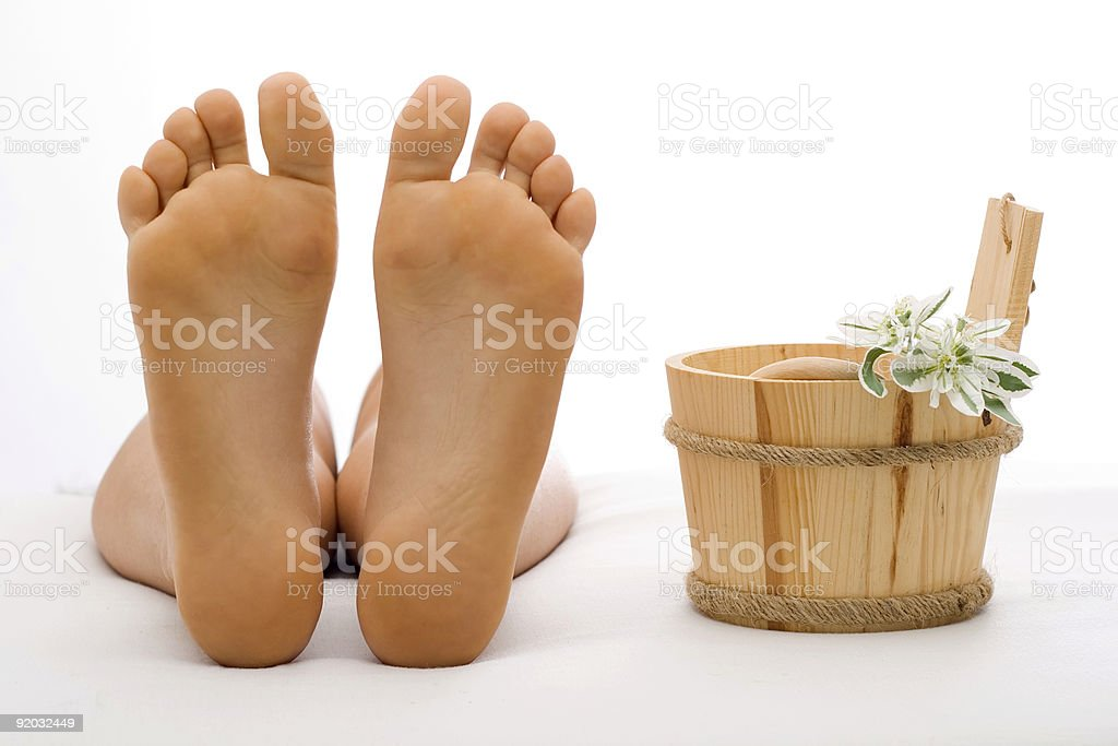 Clean foot royalty-free stock photo