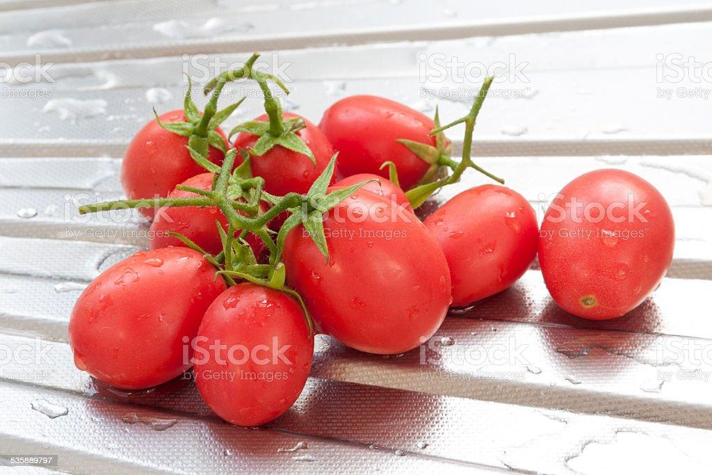 Clean fresh tomato royalty-free stock photo