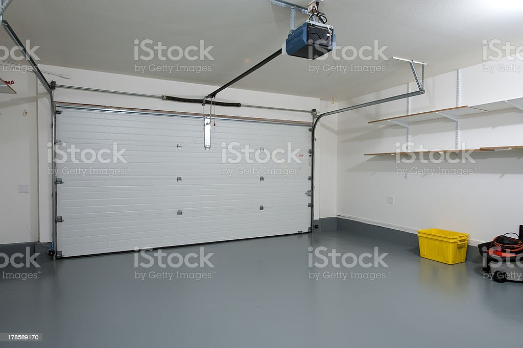 Clean garage stock photo