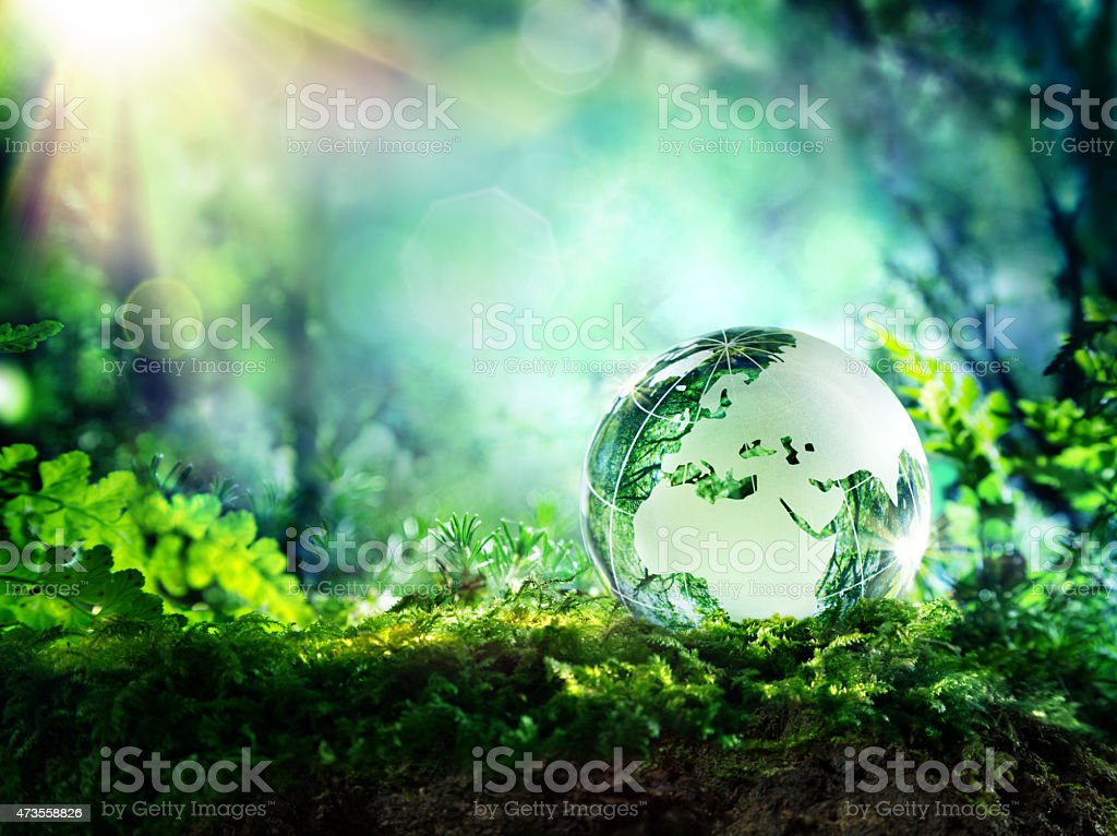 clean green planet -  environment concept stock photo
