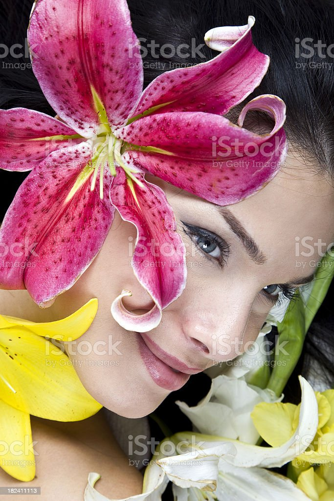clean health female face royalty-free stock photo