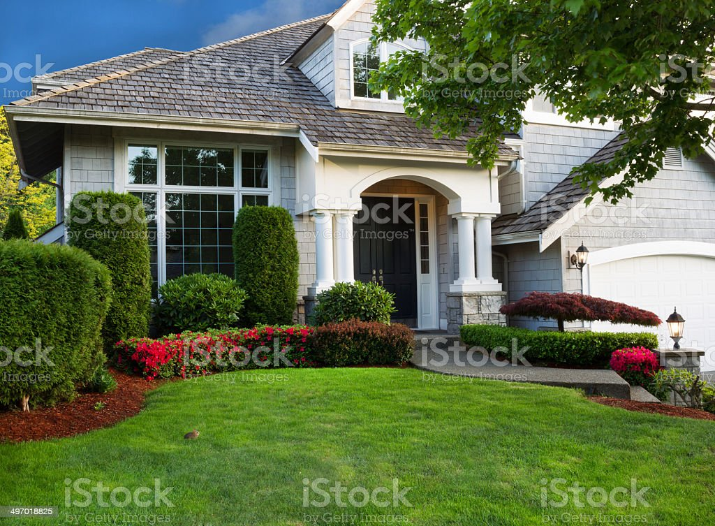 Clean Home and Landscape stock photo