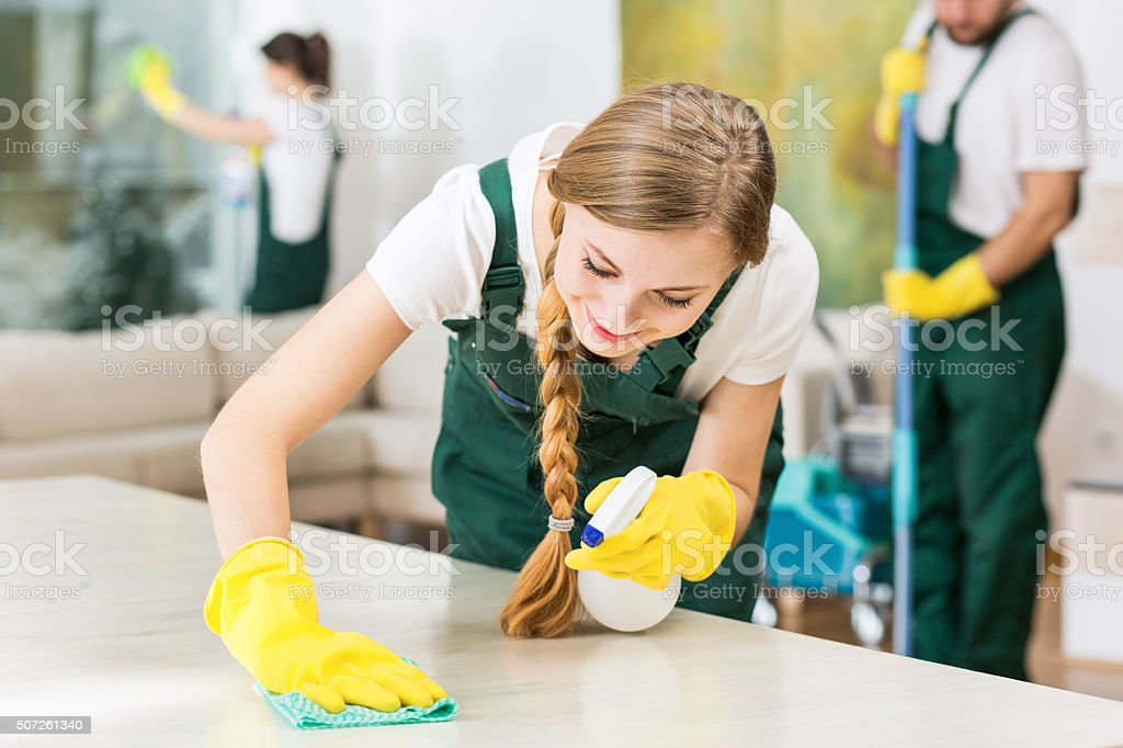 Clean home is a happy home stock photo