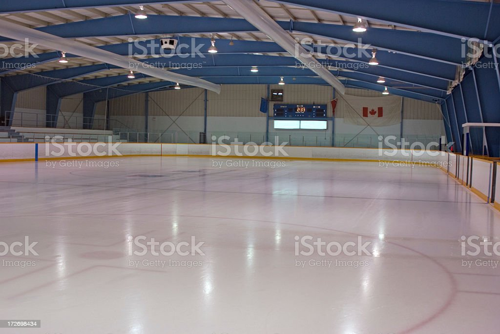 Clean Ice Rink stock photo